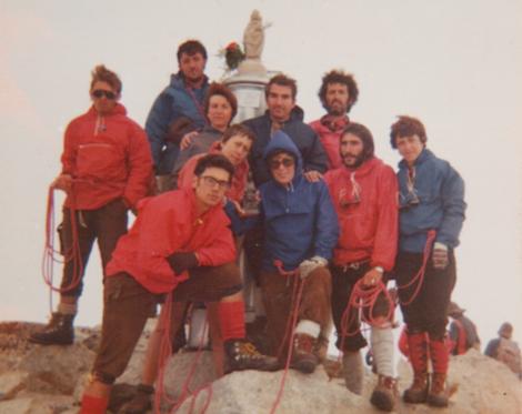 Cima del pico Aneto (3.404 m) Pirineos - Benasque - Huesca (1975)