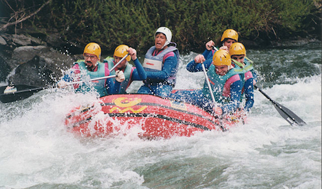 Rafting en el río Noguera-Pallaresa - Sort - Lérida (1991)