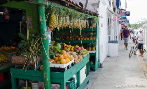 Venta de fruta tropical