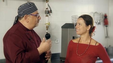 Con Yanet Acosta en el CIFP Escuela Hostelería y Turismo Simone Ortega