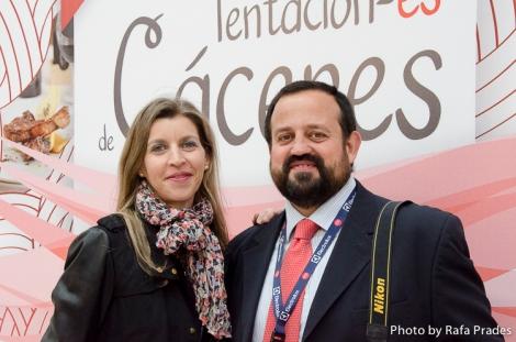 Rubí y Dani del Servicio de Turismo de la Diputación de Cáceres