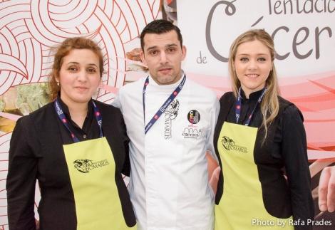 Mari Luz, José y Leti del Restaurante Homarus