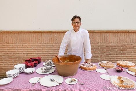El chef Benjamín Caballero en el evento de Bodegas HABLA