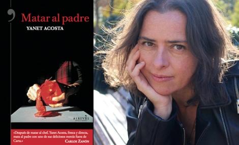 """Yanet Acosta y su libro """"Matar al padre"""" © Foto de Ariadna Acosta"""