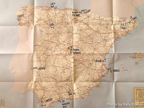 Mapa de la ruta que acompaña el libro Templos del producto